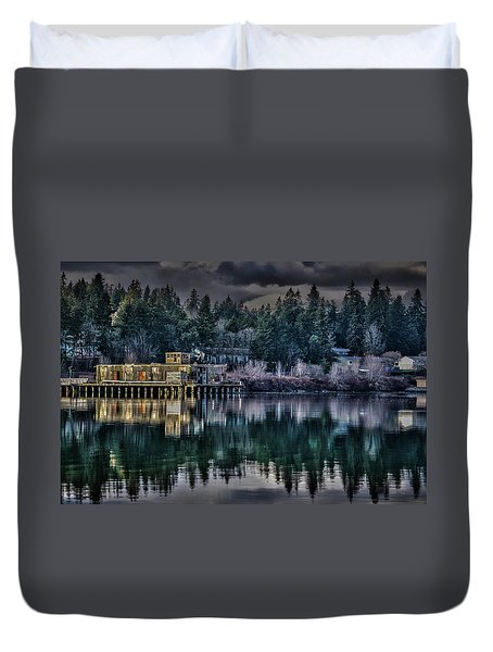 The Navy Base P1 Duvet Cover by Timothy Latta