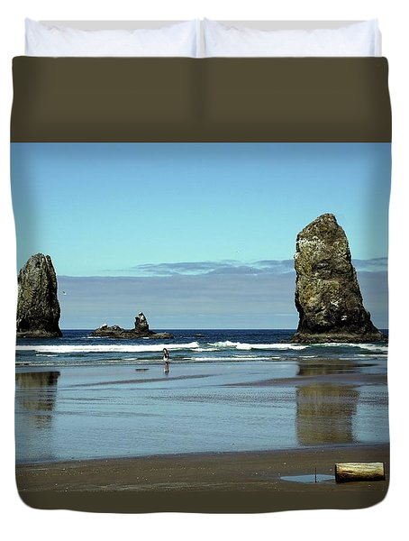 The Needles, Cannon Beach, Or Duvet Cover