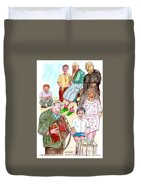 The Neighborhood Music Man Duvet Cover