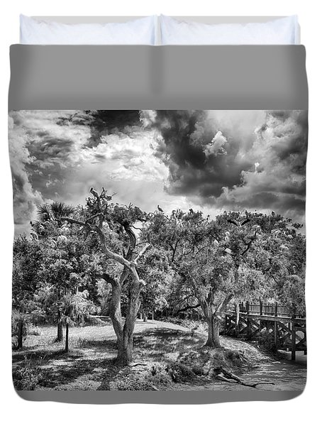 Duvet Cover featuring the photograph The Nest by Howard Salmon