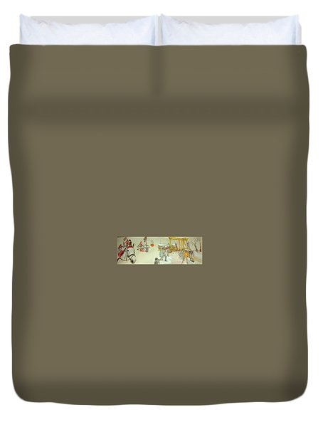the Netherlands scroll Duvet Cover
