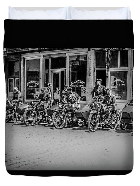 The New Bikes Duvet Cover by Ray Congrove