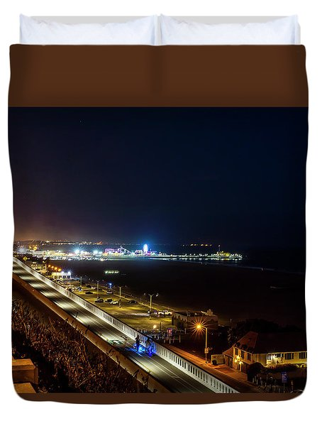 The New California Incline - Night Duvet Cover