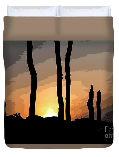 Duvet Cover featuring the photograph The New Dawn by Tom Cameron