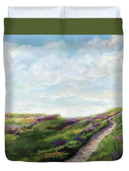 The Next Adventure - Landscape Painting Duvet Cover