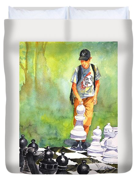 The Next Move #1 Duvet Cover