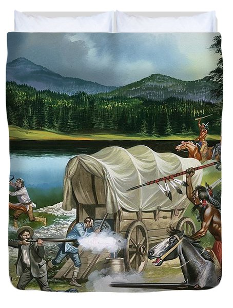 The Nez Perce Duvet Cover by Ron Embleton