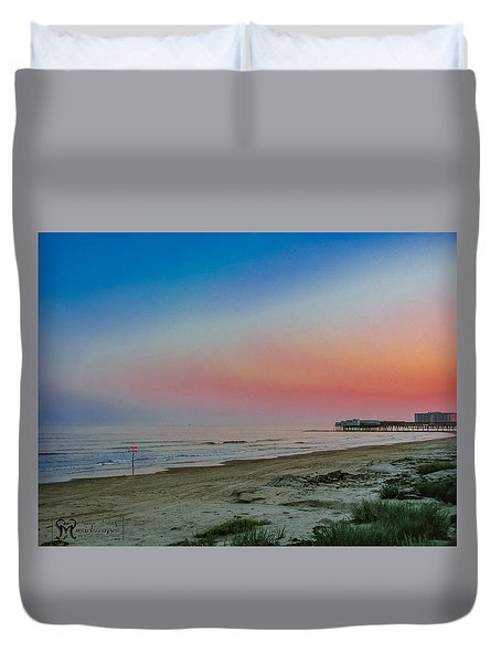Duvet Cover featuring the photograph The Night Before Rita by Karen Musick
