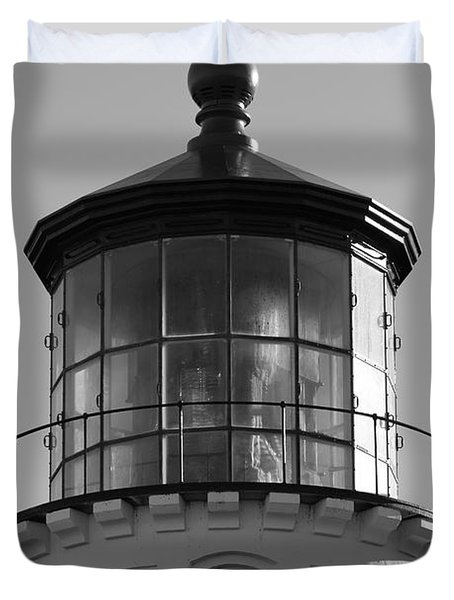 Duvet Cover featuring the photograph The Night Light by Laddie Halupa