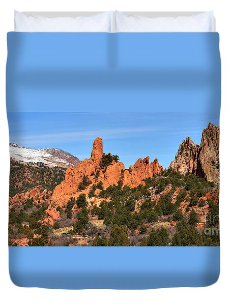 Duvet Cover featuring the photograph The High Point View by Adam Jewell