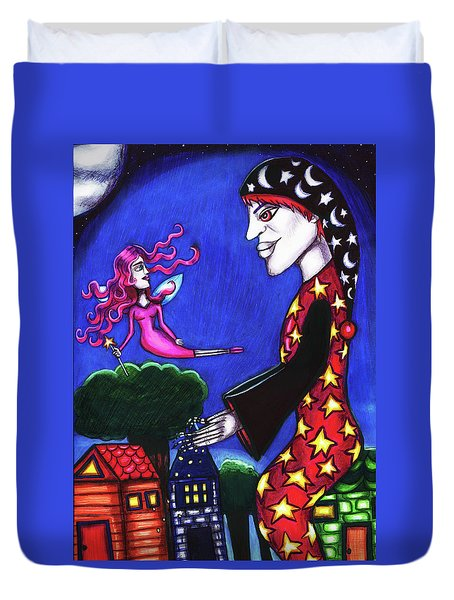 The Night Shift Sand Man Tooth Fairy Art Duvet Cover