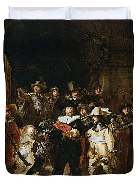 The Nightwatch Duvet Cover by Rembrandt