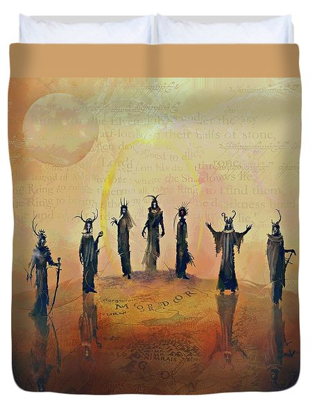 The Nine Nazgul Duvet Cover by Joe Gilronan