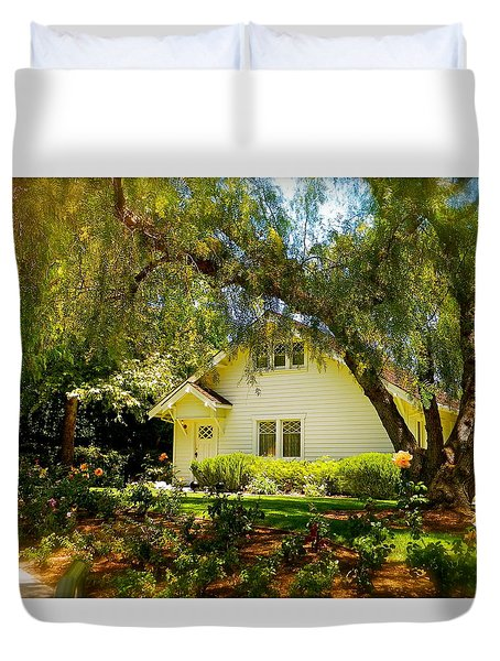 Duvet Cover featuring the photograph The Nixon Home  President Richard Nixon  by Iconic Images Art Gallery David Pucciarelli