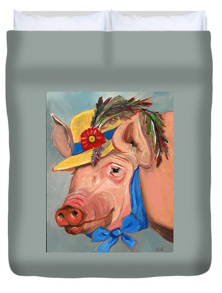 The Noble Pig Duvet Cover