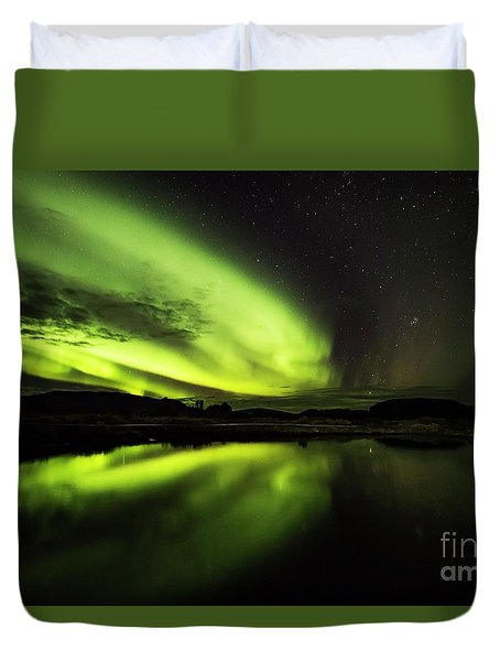 The Northern Lights Thingvellir Duvet Cover