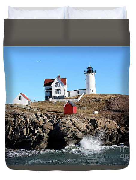 The Nubble Lighthouse  Duvet Cover