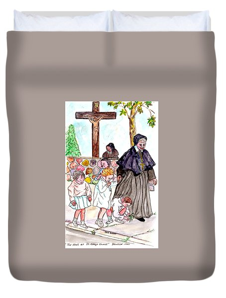 The Nuns Of St Mary's Church Duvet Cover by Philip Bracco