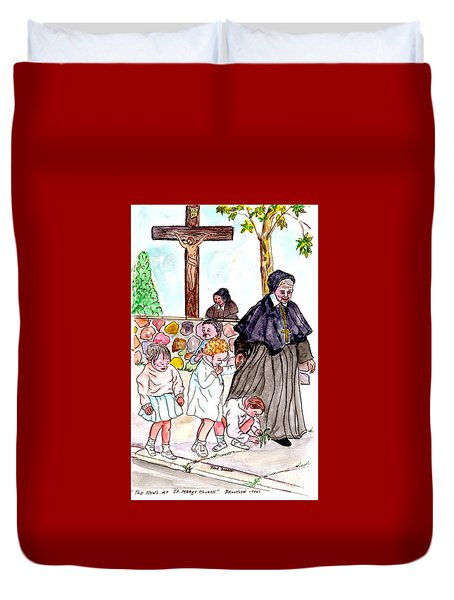 The Nuns Of St Marys Duvet Cover by Philip Bracco