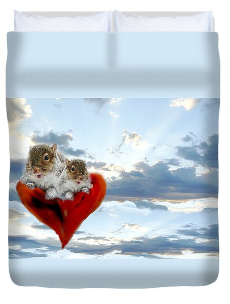 The Nuttings Are Coming Duvet Cover