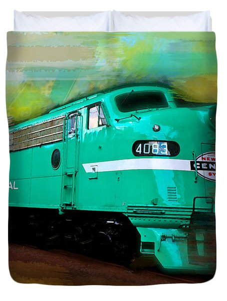 Flash II  The Ny Central 4083  Train  Duvet Cover