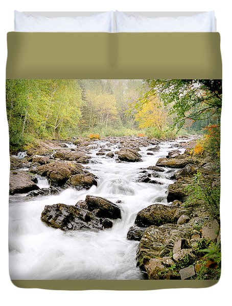 The Nymphs Of Moxie Stream Photo Duvet Cover
