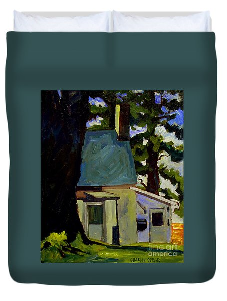 Duvet Cover featuring the painting The Oak Of Morgan by Charlie Spear