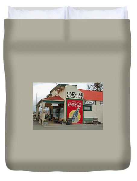 The Oakville Grocery Duvet Cover by Suzanne Gaff
