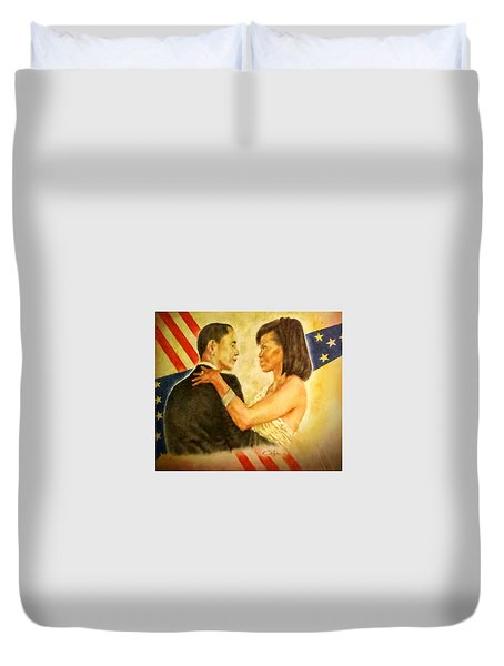 Barack And Michelle Duvet Cover