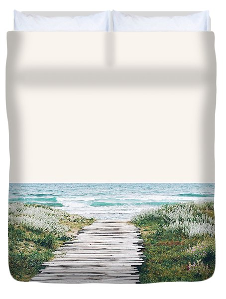 The Ocean Is Calling And I Must Go  Duvet Cover by Uma Gokhale