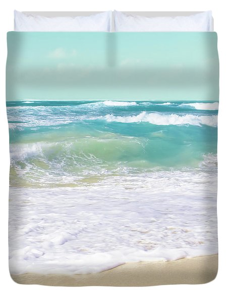 Duvet Cover featuring the photograph The Ocean by Sharon Mau