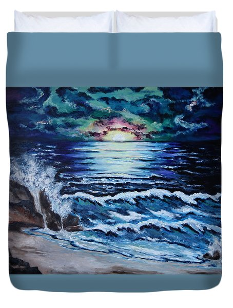 The Ocean Sings The Sky Listens Duvet Cover