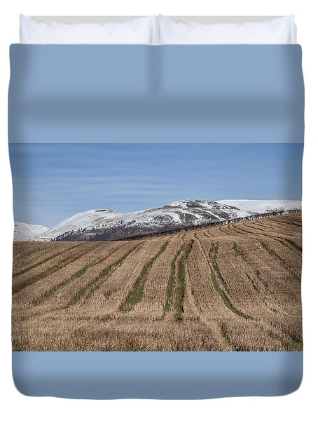 The Ochil Hills In Clackmannanshire Duvet Cover