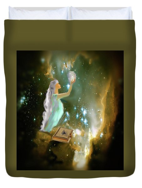 The Offering 1 Duvet Cover by Julie Grace