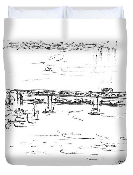 The Oka. View From The Kanavinsky Bridge. 29 April, 2016 Duvet Cover