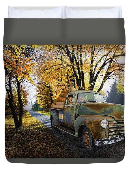 The Ol' Pumpkin Hauler Duvet Cover