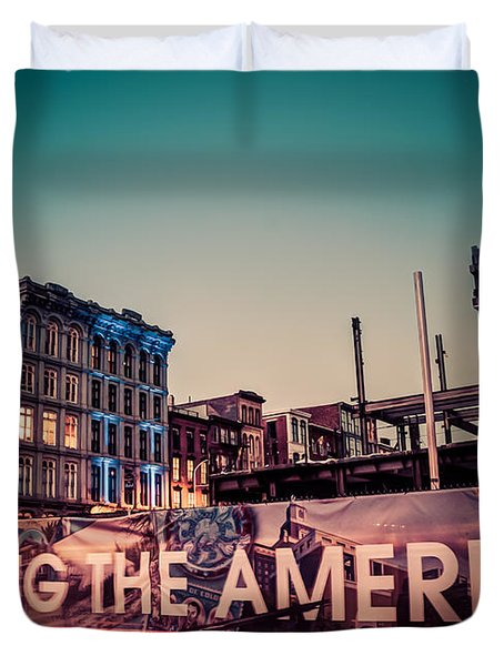 Duvet Cover featuring the photograph The Old And The New by Mark Dodd