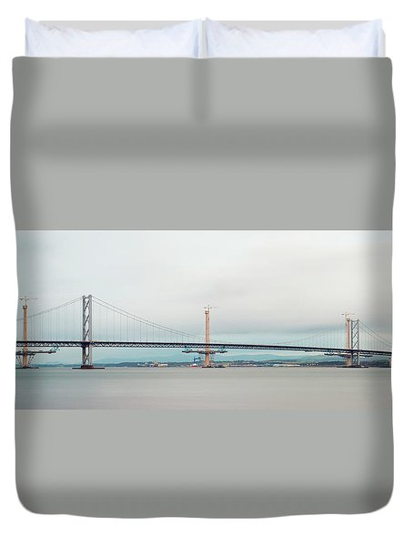 The Old And The New Duvet Cover by Ray Devlin