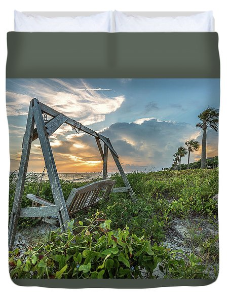 The Old Beach Swing -  Sullivan's Island, Sc Duvet Cover