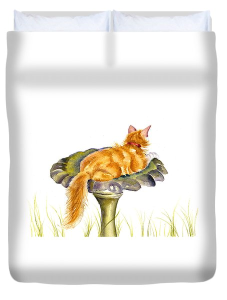 The Old Birdbath Duvet Cover