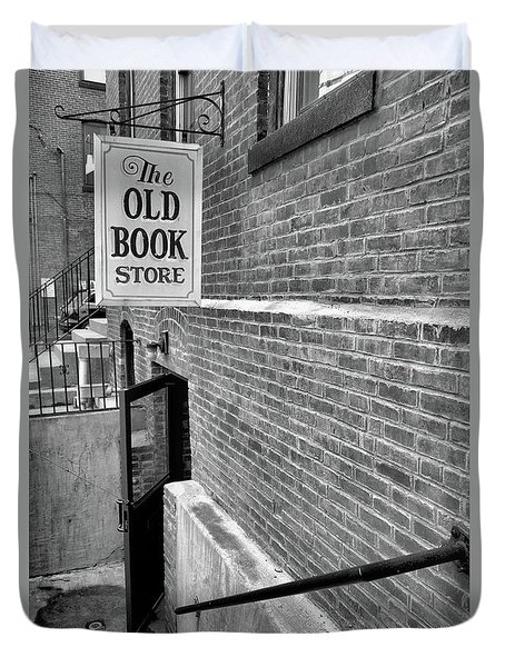 Duvet Cover featuring the photograph The Old Book Store by Karol Livote