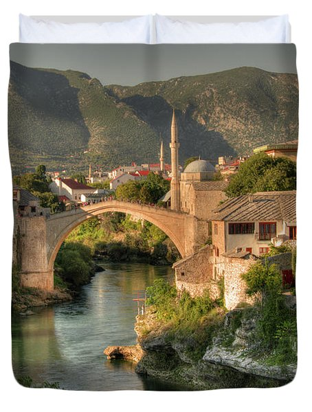 The Old Bridge Of Mostar  Duvet Cover