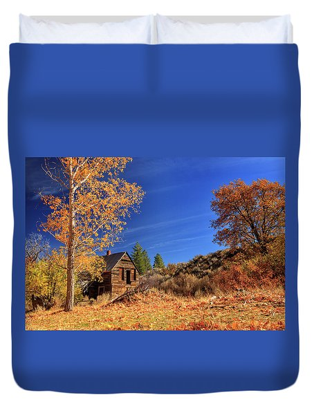 The Old Bunkhouse Landscape Duvet Cover by James Eddy