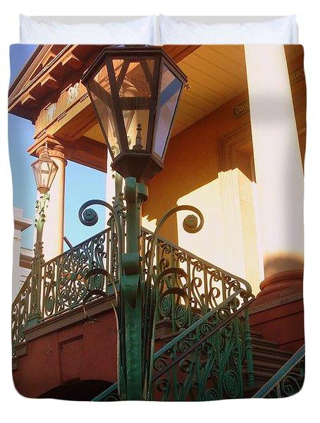 The Old City Market In Charleston Sc Duvet Cover by Susanne Van Hulst