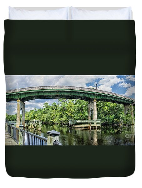 The Old Conway Bridge Duvet Cover