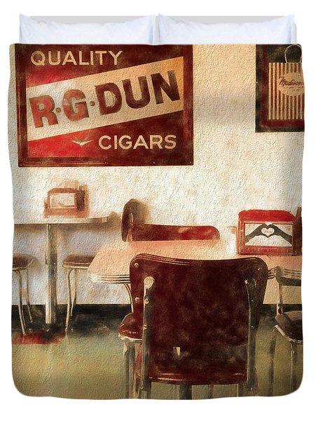 The Old Diner Duvet Cover