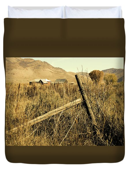 The Old Fence Post Duvet Cover