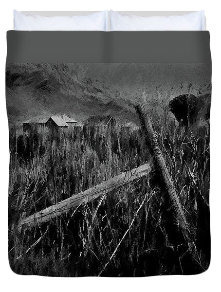 The Old Fence Post Dp Duvet Cover