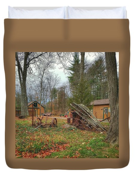 The Old Field Tools Duvet Cover