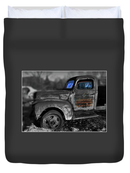 The Old Fords Blue Windows Duvet Cover